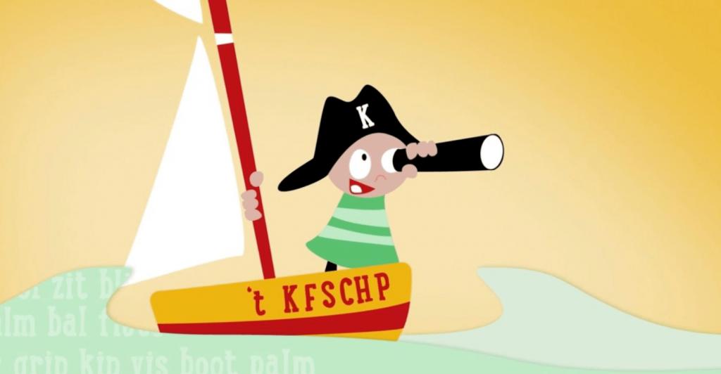 Leerlied Kapitein Kof over het T kofschip Nederlandse taal