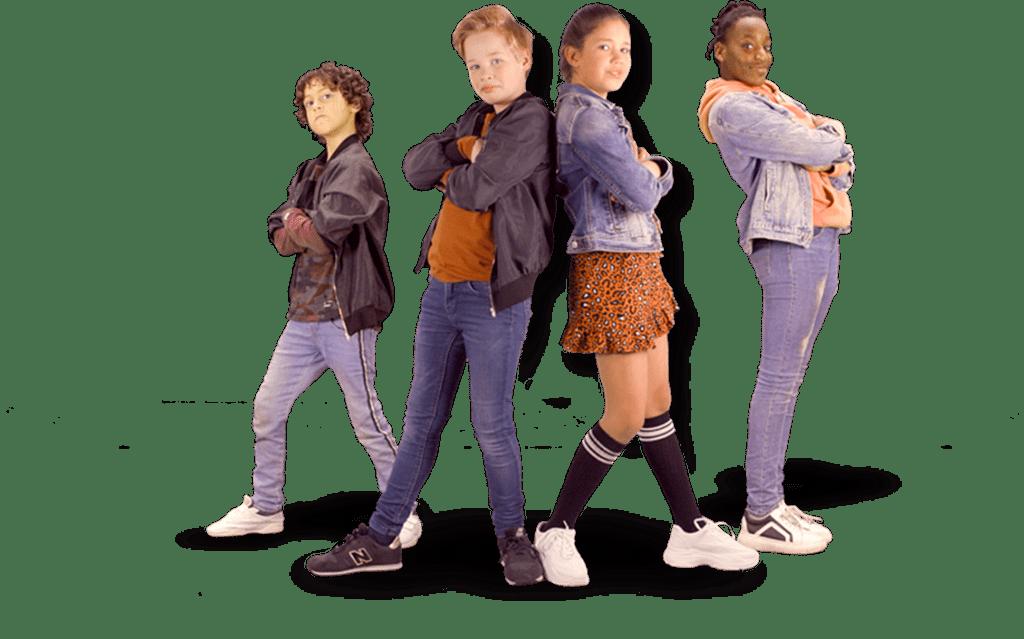 Kinderen van de muziekclip Muziek Kan Altijd voor de Kindermuziekweek