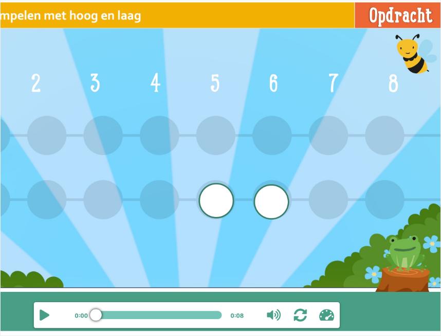 Stippentool in player met bij en kikker
