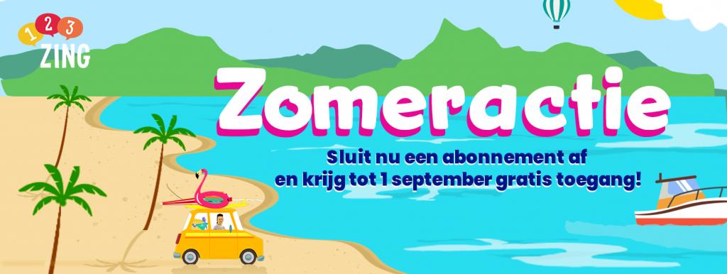 Banner over de zomeractie van 123ZING in 2021